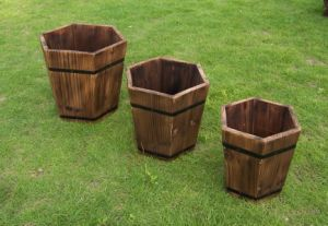 Wooden Craft Home Decoration Flower Planter for Home Wood Planter pictures & photos