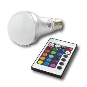 B22 Colour Changing LED Light Bulb Golf Ball with Remote Controller pictures & photos