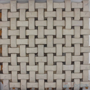 Camber Basket Weave Beige Marble Mosaic Wall Tile