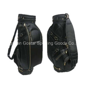2015 New Style Deluxe PU Leather Staff Golf Bag (GL-9186) pictures & photos