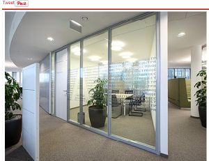 Aluminium Glass Office Partition (invisible partition wall) pictures & photos