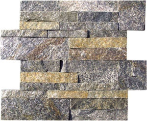 Yellow Quartzine Culture Stone Cultured Stone for Wall Cladding pictures & photos