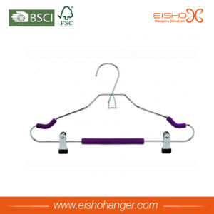Metal Foam Clothes Hanger with Clips (E8001) pictures & photos