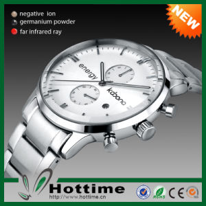Hottime 4in1 Energy Stone Stainless Steel Watch (CP-JS-BB-002) pictures & photos
