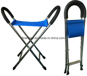 Adjustable Walking Folding Cane Seat Chair pictures & photos
