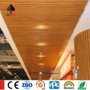 High Quality Wood Grain Aluminium Rectangular Tube Ceiling pictures & photos