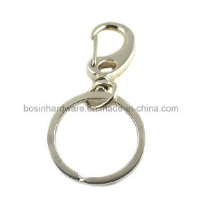 Metal Split Key Ring with Swivel Spring Hook pictures & photos