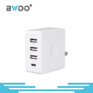 Three USB Wall Charger with UK Us EU Plug pictures & photos