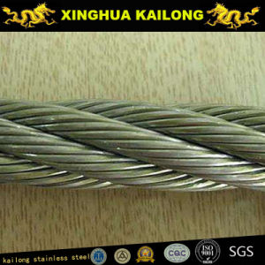 7x7 (WSC) Galvanised Steel Wire Rope (1770n/Mm2 Rhol;40m Long With a Heavy Duty Wire Rope Thimble at One End) pictures & photos