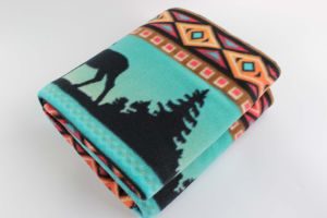 100% Polyester Printed Fleece Blanket with Native Design pictures & photos