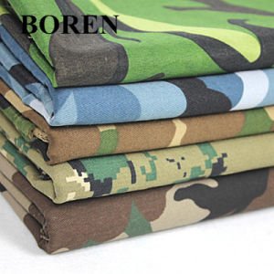 Cotton Twill Camouflage Fabric for Military Use and for Travel (16X12/108X56) pictures & photos