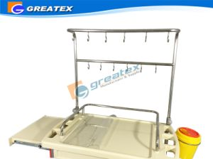 Hospital Medical Cart Infusion Support Trolley (GT-TAQ204) pictures & photos