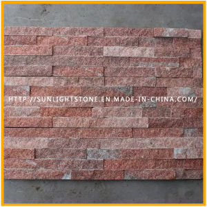 Pink/Yellow/White Quartzite Ledgestone Stacked Wall Stone Veneer Culture Stone pictures & photos