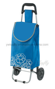 Portable Collapsible Shopping Cart with Metal Frame pictures & photos