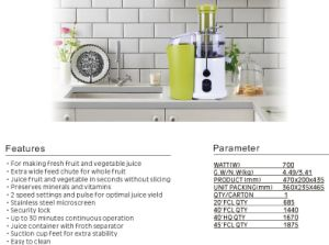 Wholesale 1L Juice Extractor, Fruit Juicer pictures & photos
