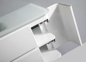 Round Corner Glass Basin PVC Vanity in Bathroom pictures & photos