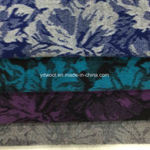 Lotus Leaf Jacquard Wool Fabric Ready pictures & photos