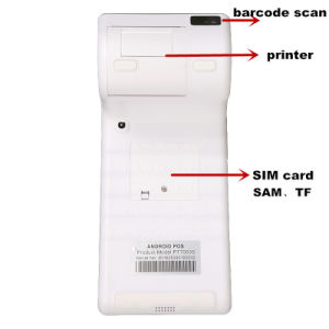 Handheld Android Smart Tablet POS Terminal with Printer Barcode Reader MIFARE NFC Reader PT7003 pictures & photos