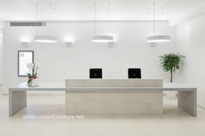 Simple Design Corian and Wood Office Table Desk pictures & photos
