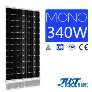High Efficiency 340W Mono Solar Panel with Ce, CQC and TUV Certification