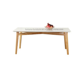 Modern Solid Wood UV High Gloss White Dining Table   (Thinker   601) pictures & photos