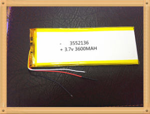3552136 3.7 V Lithium Polymer Battery Tablet MID Panel 3000 mAh 3 Lines pictures & photos