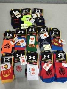 75% Cotton 23% Polyester 2%Spandex Wholesale Hero Pattern Socks for Good Quality pictures & photos