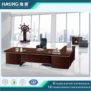 Office Table with Side Table Good Quality Wooden Furniture Office Desk with Drawers pictures & photos
