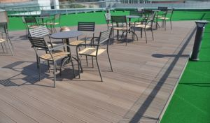 140*25mm Natural Feel Price Waterproof WPC Outdoor Flooring, Hot Sale Wood Plastic Composite Decking pictures & photos