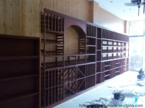 Wine Cellar Used Wooden Wine Cabinet with Creative Design pictures & photos