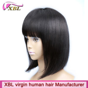 Fashion Wholesale Virgin Human Hair Bob Wig with Fringe pictures & photos