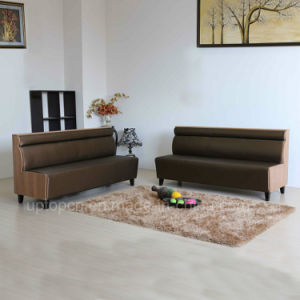 (SP-KS339) Modern Leather Dining Cafeteria Long Bench Sofa Customized pictures & photos