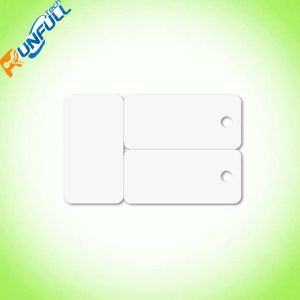 Plastic Key Ring Card with Glossy Finish and Cmyk Printing on Both Sides pictures & photos