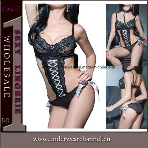 Women Seamless Transparent Strappy Baby Doll Lingerie Sexy Teddy (TEB645) pictures & photos