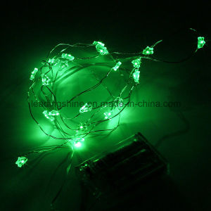 Christmas Tree Bling Micro LED 20 Lights Battery Operated on 7FT Long Silver 6 Hours on 18 Hours off pictures & photos