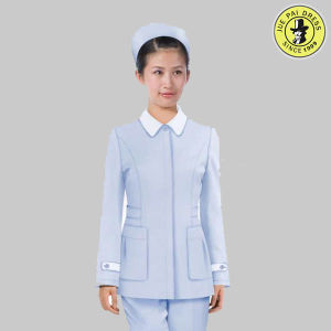 Femail Hospital Nurse Uniform for Long Sleeve Shirt with Pockets and Pants pictures & photos