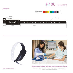 RFID Tk4100 Disposable PVC Wristband Hospital Patient Identification pictures & photos