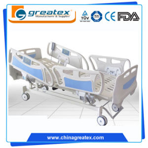Electric Metal Hospital Bed Folding Bed with ABS Panel pictures & photos