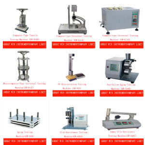Impact Plastic Testing Equipment Rubber Melt Flow Index Tester Mfi Testing Machine (GW-082A) pictures & photos