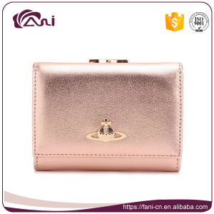 Colorful Lambskin Leather Mini Wallet, Small Lady Clutch Purse pictures & photos