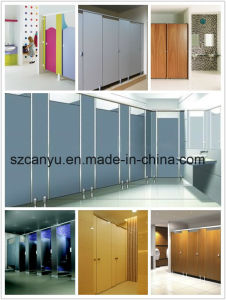 Companies System Toilet Partition Wood Fireproof Panel Custom Safetly Door pictures & photos