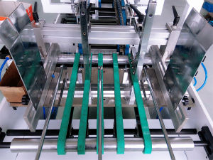 Pre-Fold Straight-Line Box Folding Gluing Machine (GK-780B) pictures & photos