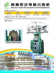 Body Size Transfer Rib Jacquard Circular Knitting Machine pictures & photos