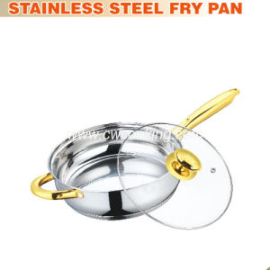 Stainless Steel Fry Pan with Helper pictures & photos