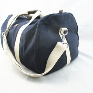 Men′s Cotton Twill Duffle Bag in Navy pictures & photos