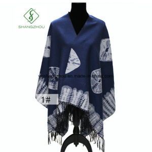 New Design Winter Fashion Thickened Cloak Furcal Geometry Shawls pictures & photos