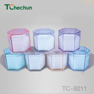 Hexagon Transparent Color Within The Sponge Placed Watch Plastic Box pictures & photos