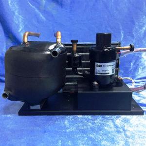 Small 24 Volt DC Compressor Compact Condensing Unit Refrigerant Units for Mini Portable Liquid Cycle Refrigeration pictures & photos