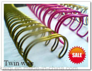 Colourful Twin Loop Book Binding Wire pictures & photos