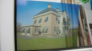 Printing Advertising Strips Pattern Two Way Vision Vinyl Perforated Glass Film pictures & photos